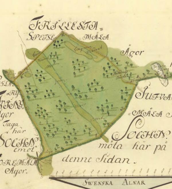 Redan 1752 finns Branta Berg med på kartan